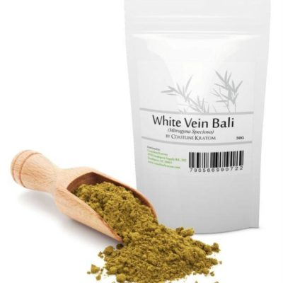 White Vein Bali Kratom Powder Bag