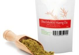 Ultra Enhanced Red Maeng Da Kratom Powder Bag